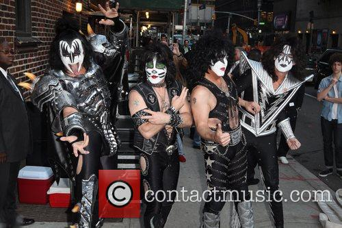 Gene Simmons, Paul Stanley, Eric Singer, Tommy Thayer, Kiss and Ed Sullivan Theatre 8