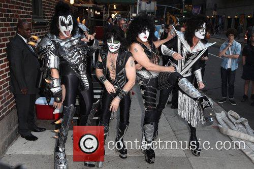 Gene Simmons, Paul Stanley, Eric Singer, Tommy Thayer, Kiss and Ed Sullivan Theatre 9