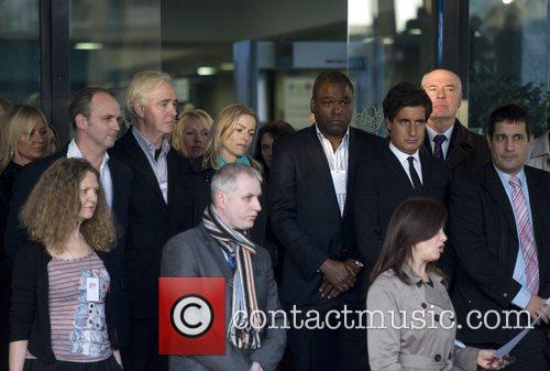Leaving the Queen Elizabeth II Conference Centre after...