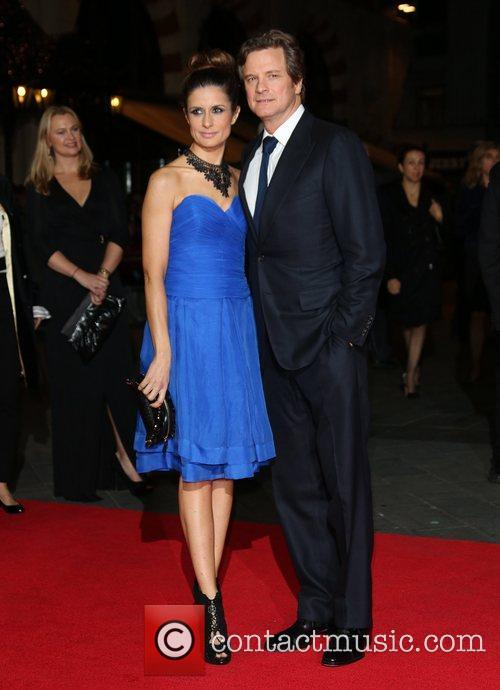 Colin Firth and wife Livia Giuggioli 56th BFI...