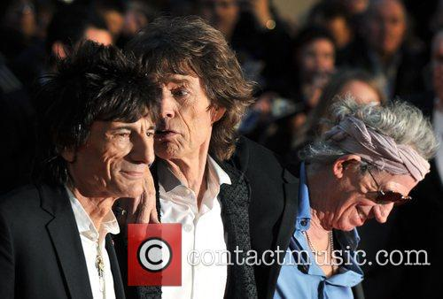 Keith Richards, Ronnie Wood, Mick Jagger, Rolling Stones and Odeon Leicester Square 5