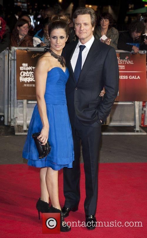 Livia Giuggioli and Colin Firth  56th BFI...