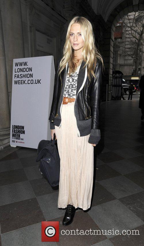 Poppy Delivigne Ashish Autumn/Winter London Fashion Show. London,...