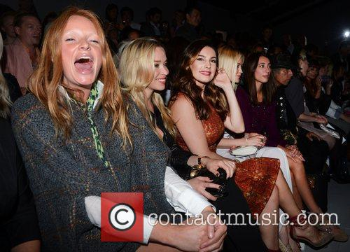 Kelly Brook and Laura Whitmore London Fashion Week...