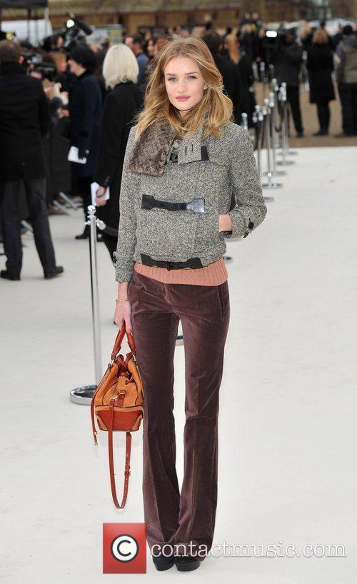 Rosie Huntington Whiteley London Fashion Week - Autumn/Winter...