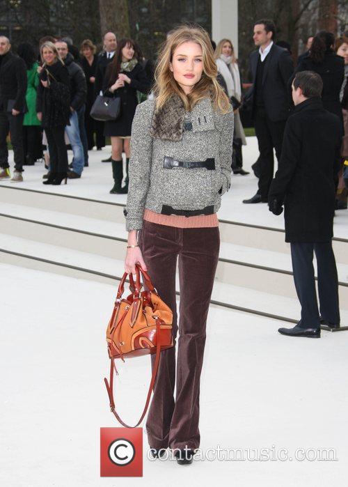 Rosie Huntington-Whiteley London Fashion Week - Autumn/Winter 2012...