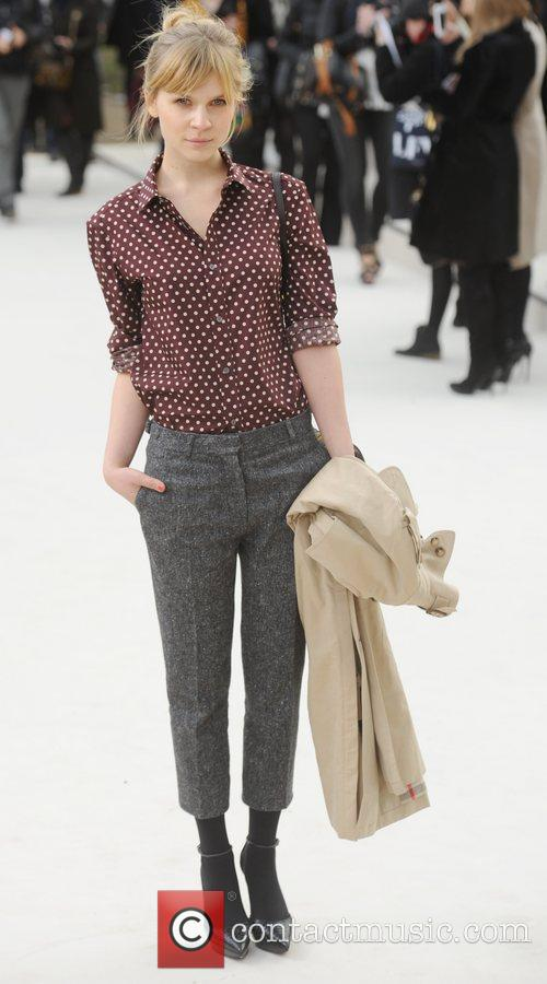 Clemence Poesy and London Fashion Week 2