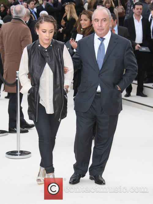 Chloe Green with her father Sir Philip Green...