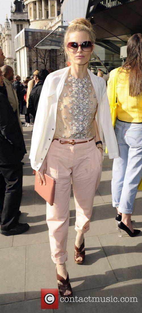 Laura Bailey Christopher Kane Autumn/Winter London Fashion Show....