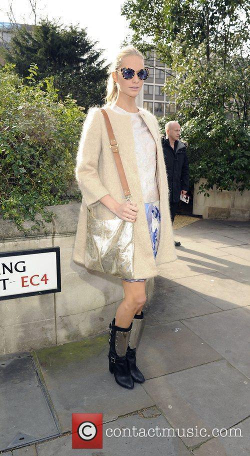 Poppy Delivigne Christopher Kane Autumn/Winter London Fashion Show....