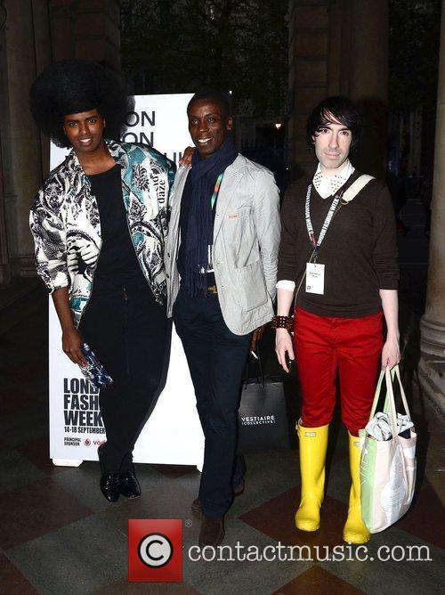 Prince Cassius and Leroy Dawkins London Fashion Week...