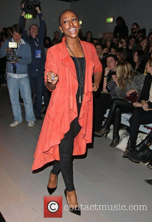 Alexandra Burke and London Fashion Week 1