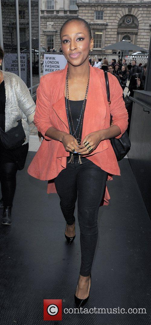 Alexandra Burke and London Fashion Week 7