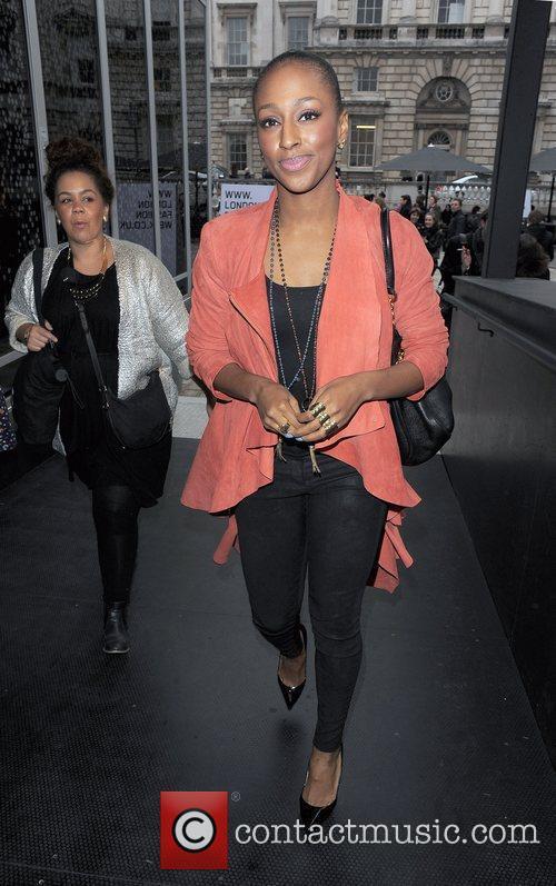 Alexandra Burke and London Fashion Week 8