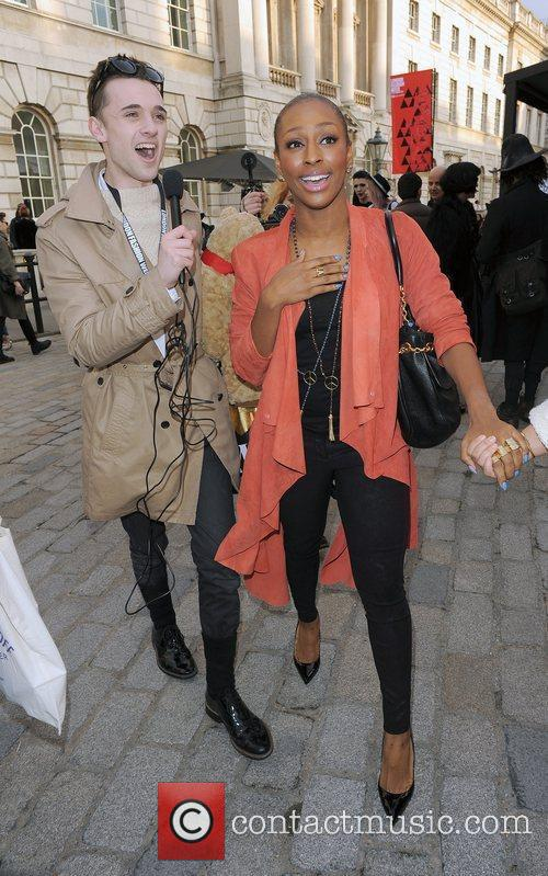 Alexandra Burke and London Fashion Week 9