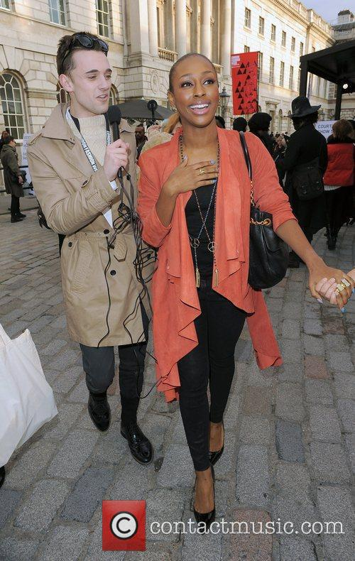 Alexandra Burke and London Fashion Week 11