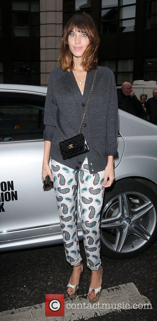 Alexa Chung and London Fashion Week 3