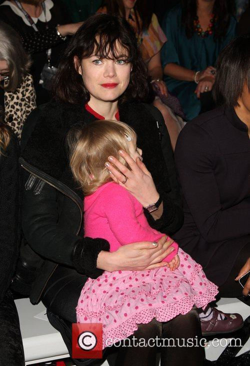 Jasmine Guinness with her daughter  London Fashion...