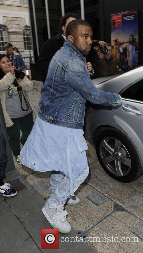 Kanye West Mark Fast Autumn/Winter London Fashion Show....