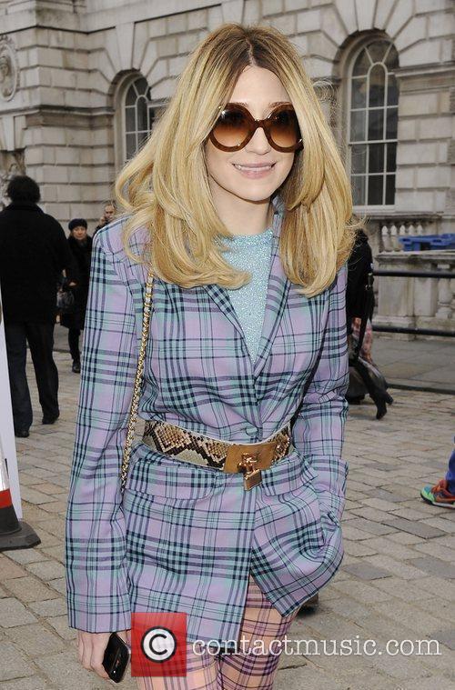 Nicola Roberts Mark Fast Autumn/Winter London Fashion Show....