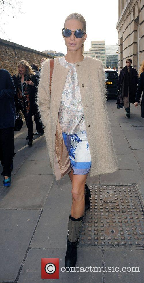 Poppy Delevigne London Fashion Week Autumn/Winter 2012 Michael...