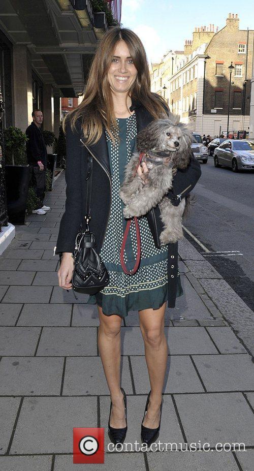 Jade Williams aka Sunday Girl with her dog....