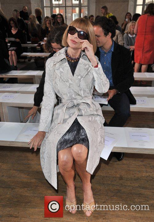 Anna Wintour London Fashion Week Spring/Summer 2013 -...