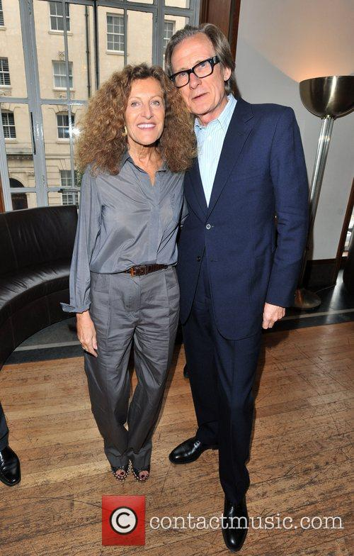 Nicole Farhi and Bill Nighy London Fashion Week...