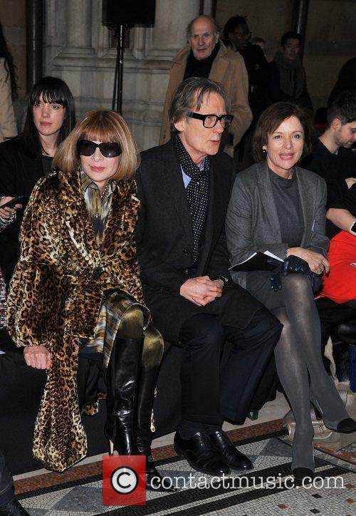 Anna Wintour and Bill Nighy London Fashion Week...