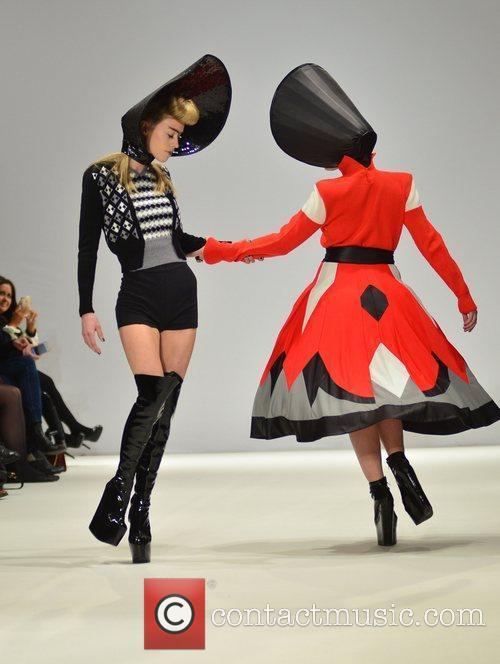 Model and Jamie Winstone London Fashion Week -...