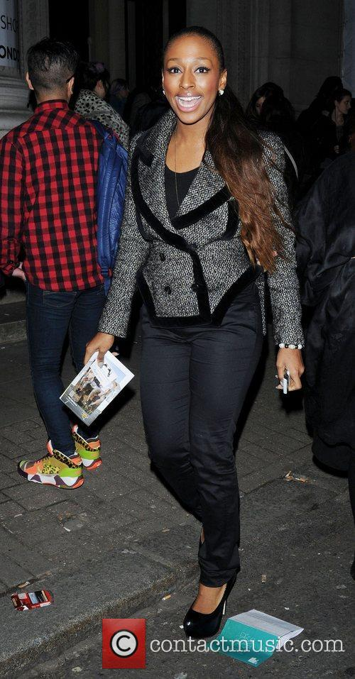 Alexandra Burke and London Fashion Week 11