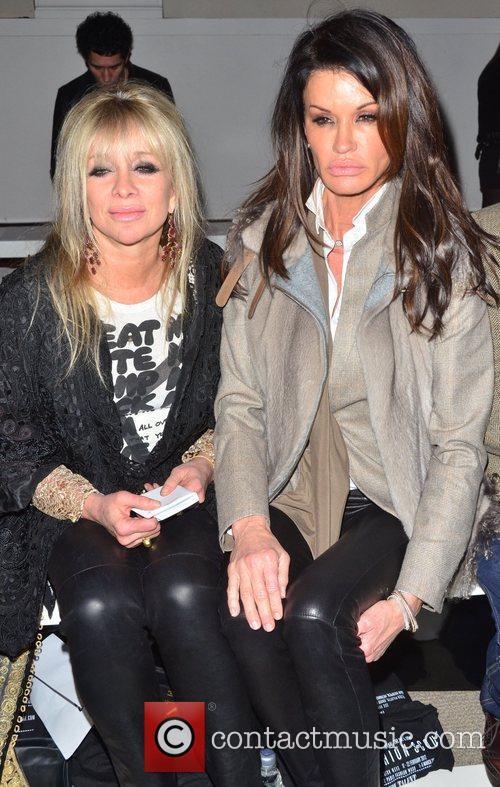 Jo Wood and Janice Dickinson London Fashion Week...