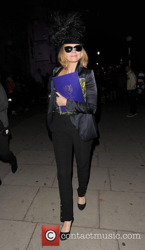 Kim Cattrall and London Fashion Week 7