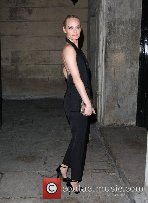 Amber Valletta Stella McCartney Winter 2012 London Eveningwear...