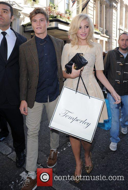 Pixie Lott and Oliver Cheshire London Fashion Week...