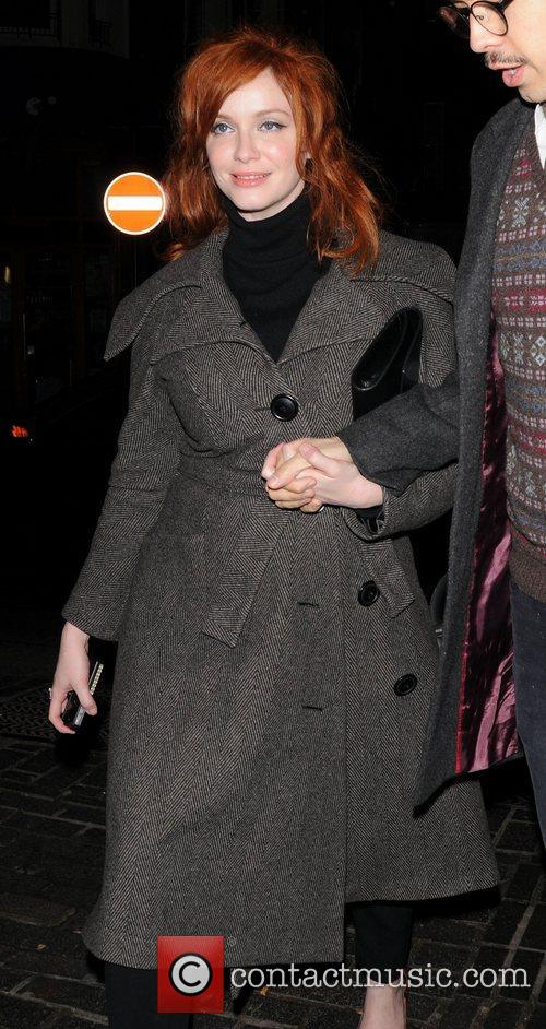 Christina Hendricks and London Fashion Week 3