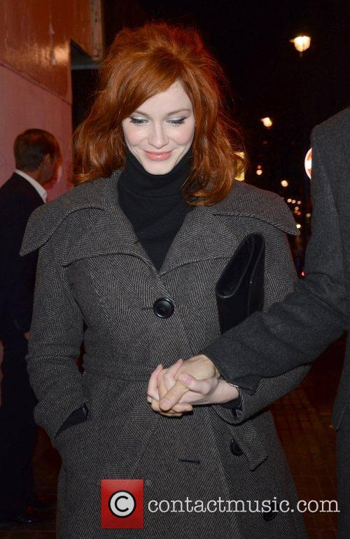 Christina Hendricks and London Fashion Week 1