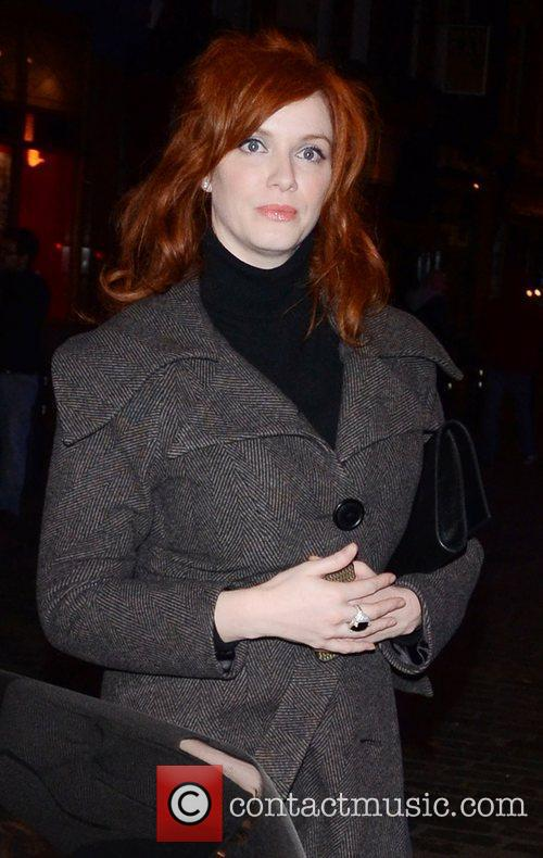 Christina Hendricks and London Fashion Week 7