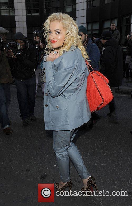 Rita Ora London Fashion Week Autumn/Winter 2012 Vivienne...