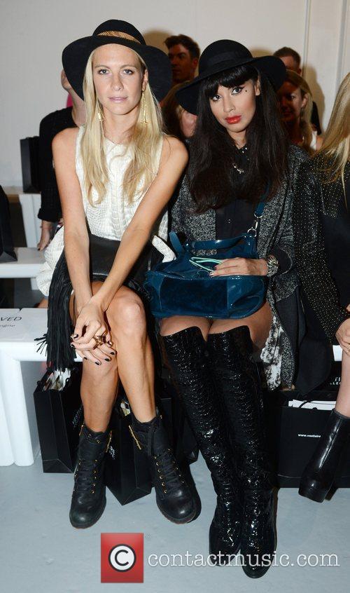 poppy delevinge and jameela jamil london fashion 4079896