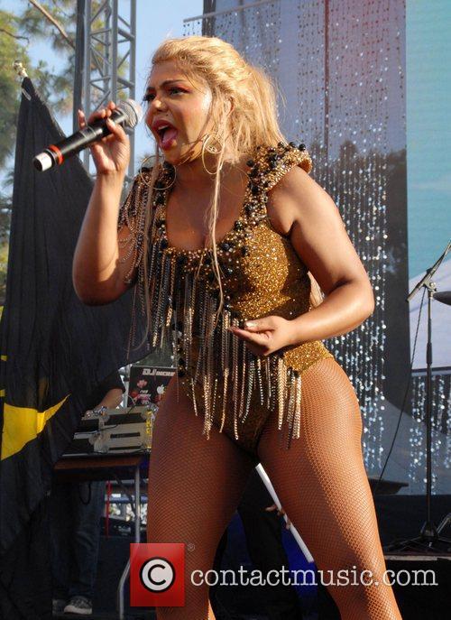 Lil Kim performing at LA Pride Los Angeles,...