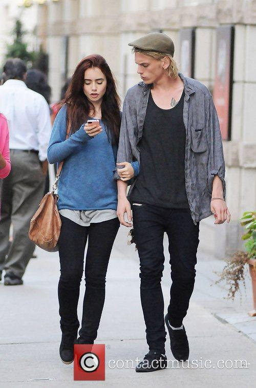 Lily Collins and Jamie Campbell Bower 1