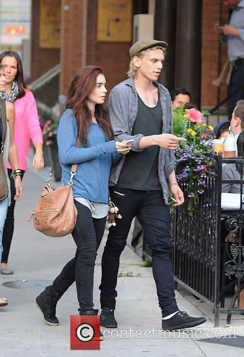 Lily Collins and Jamie Campbell Bower 4