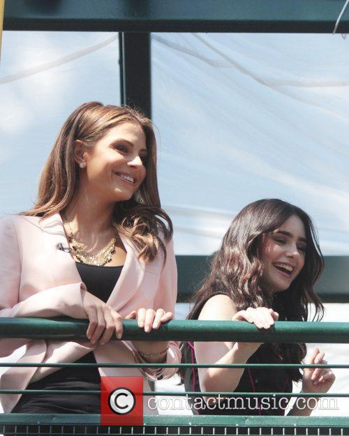 Lily Collins and Maria Menounos 4