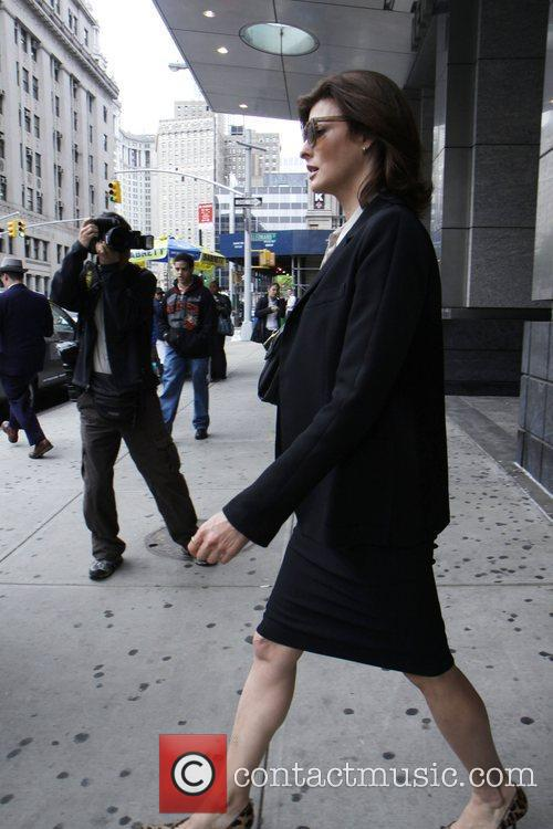 Linda Evangelista is seen exiting Family Court after...
