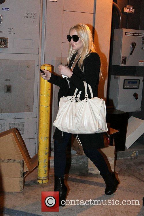 Lindsay Lohan  goes Christmas shopping at Yves...