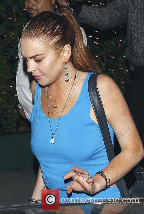 Lindsay Lohan leaves Mr Chow restaurant Los Angeles,...