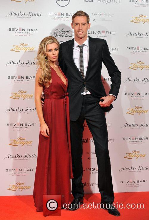 Abbey Clancy and Peter Crouch Lingerie London held...