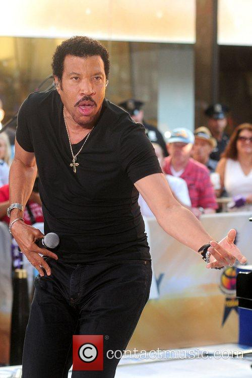 Lionel Richie and Rockefeller Plaza 33