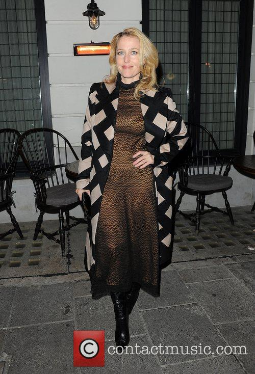 Gillian Anderson at Little House restaurant in Mayfair.